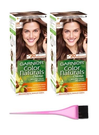 Garnier Garnier 2 Adet Color Naturals Saç Boyası 6N + Boya Fırçası Renksiz